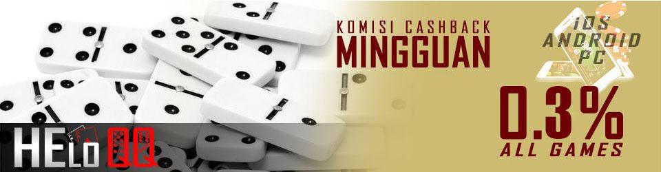 bonus cashback judi poker online