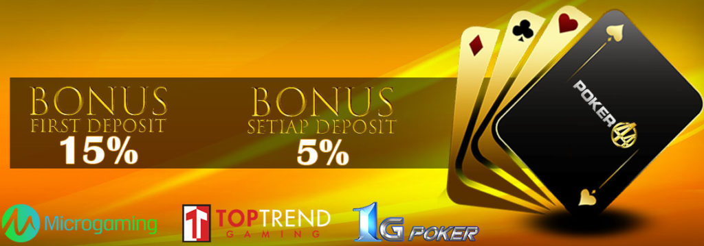 bonus deposit poker online resmi